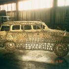 VIKTOR 2001, provaz, epoxidová pryskyřice, ocelová konstrukce, 410 x 175 x 153 cm, Viktor v Bubči